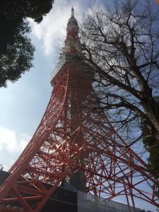 Tokyo Tower in winter.