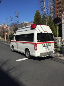 Japanese ambulance - did you know that the drivers have to call around to hospitals to find who will be willing to admit you before they can drive you anywhere?