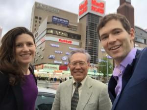 Isao Yoshino with me and my husband John