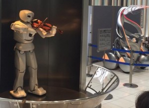 Toyota robot playing Pomp and Circumstance