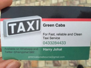 If you are in Melbourne, call Harry.
