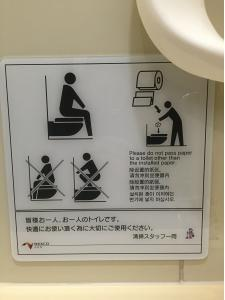 How to use a Western-style toilet.