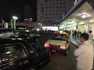 Shinagawa taxi queue