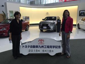 Miwa and me at the Kyushu  Toyota plant.