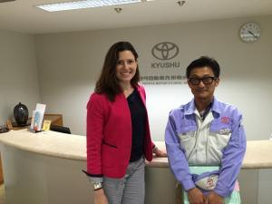 Me with the Kyushu TPS Promotion Office director
