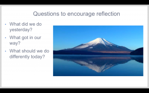 Ask questions to develop reflection as a habit.