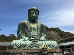The giant buddha in Kamakura outside of Tokyo.
