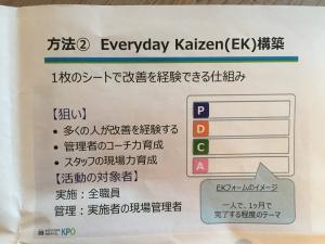 Example of Everyday Kaizen (courtesy of the KPO)