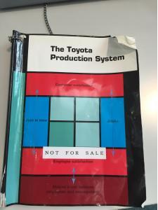 "First edition of ""The Toyota Production System"""
