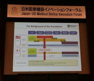 "Japan vs U.S. innovation ""ecosystems"" - slide courtesy of the Japan-U.S. Biodesign Innovation Forum"