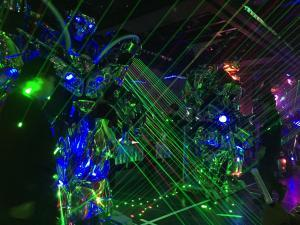 "Robots and lasers at the ""Robot Restaurant"""