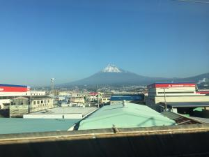 View of Mt. Fuji from the bullet train to Nagoya.