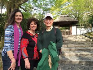 Three generations of deshis and senseis, reflecting together in Kyoto.