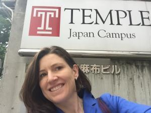 Selfie outside of Temple University's Tokyo campus this morning