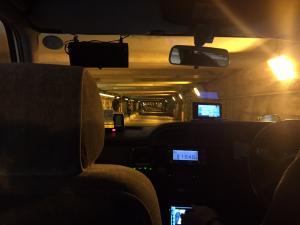 A photo from my taxi this morning in the tunnel under the train tracks.