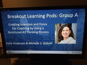 Katie Anderson & Michelle Gabriel Lean Coaching Summit 2016