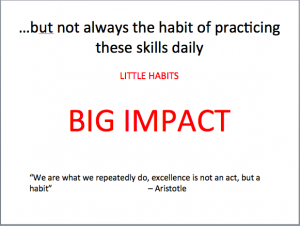 But do we always put our knowledge and skills into practice?