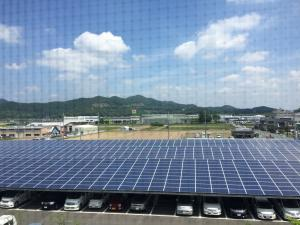 View of some of Ogura's solar panels from their conference room.