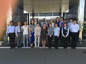 Our Lean study tour group at Ogrua Metal. Mrs. Ogura is in the front row, third from the right. My co-leader Ms. Kawanami, another inspirational Japanese businesswoman, is in the front row, fifth from the left.