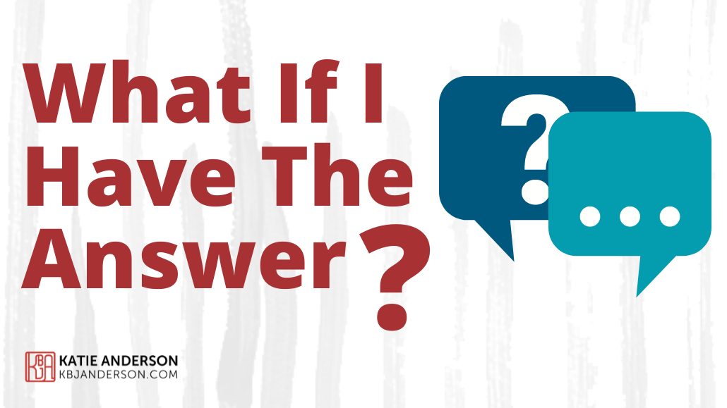 What if I have the answers-main