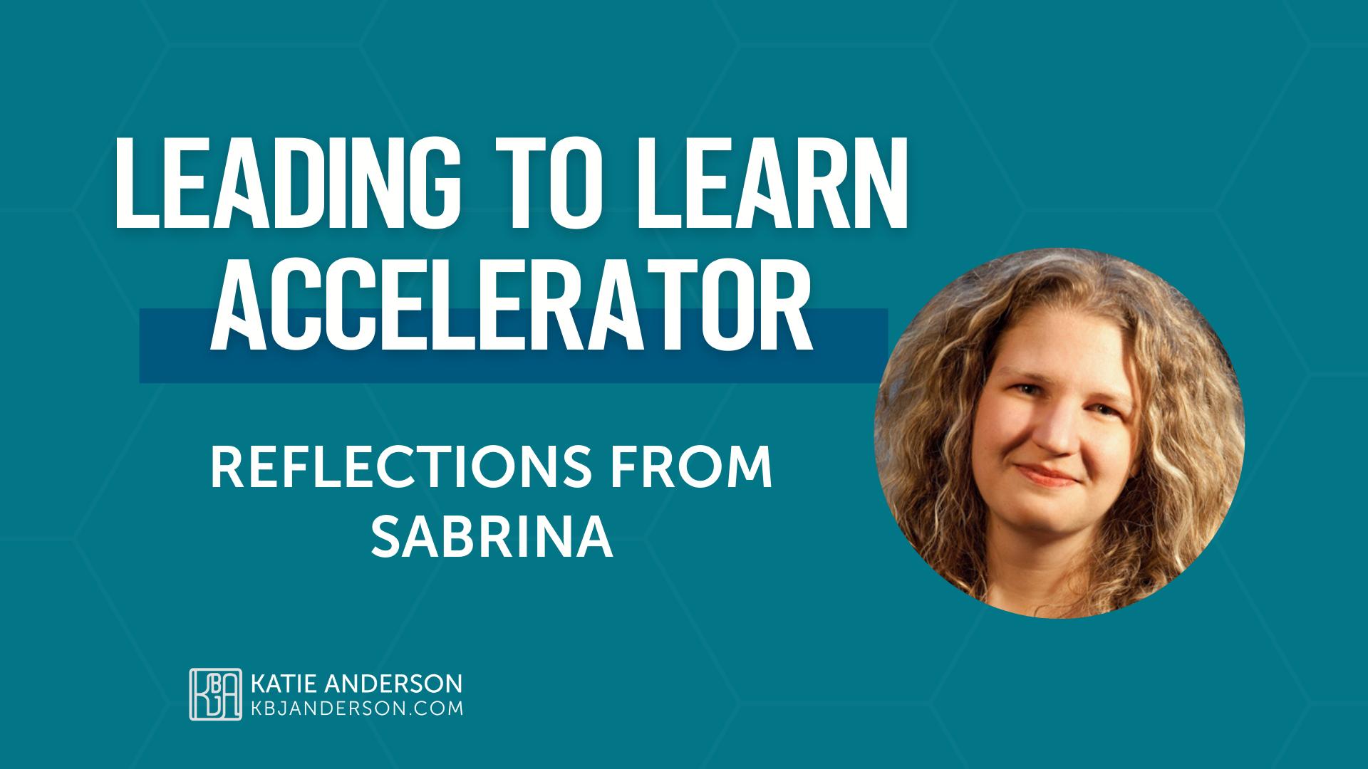 Accelerator Testimonial Sabrina